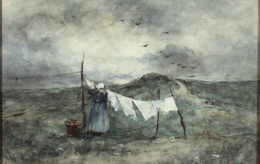 Museums Northumberland Berwick Collections Jacob Maris Washing Day Painting