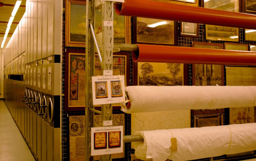 Museums Northumberland Collections Woodhorn Banner Storage