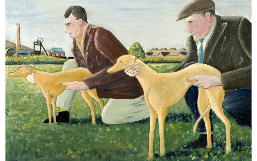 Museums Northumberland Collections Ashington Group George Blessed Whippets c1939