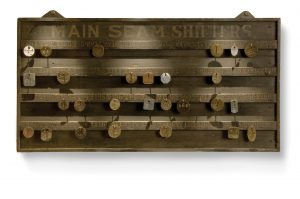 Tally board with tallies