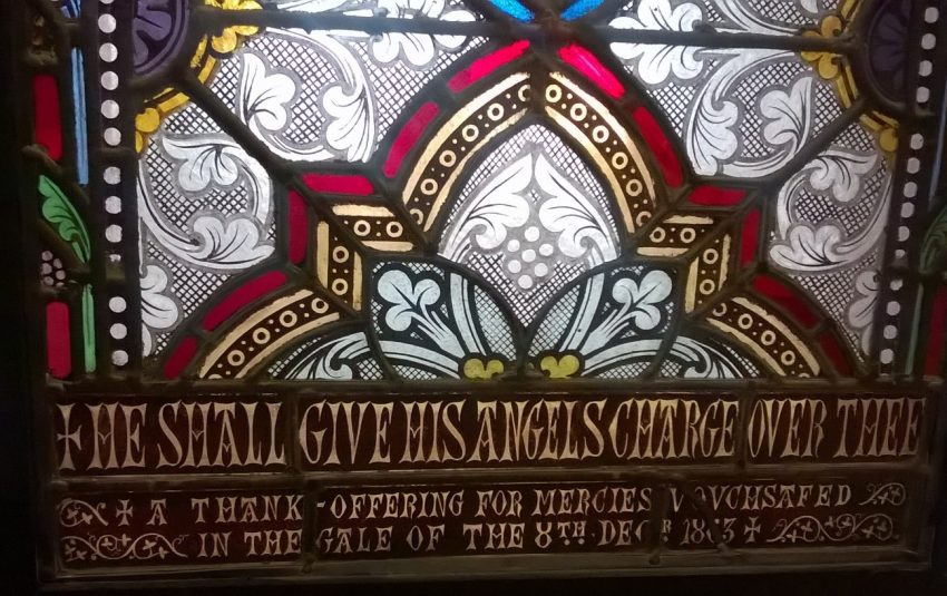 Stained glass from The Church of the Holy Trinity and St Mary