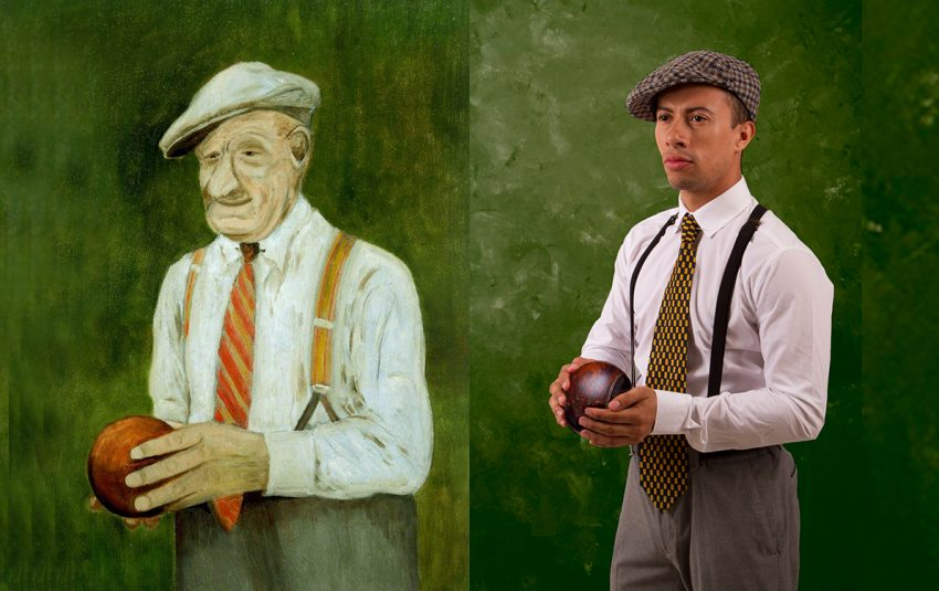 The Bowler by Len Robinson. Recreated by Eliot Smith featuring Yamit Salazer