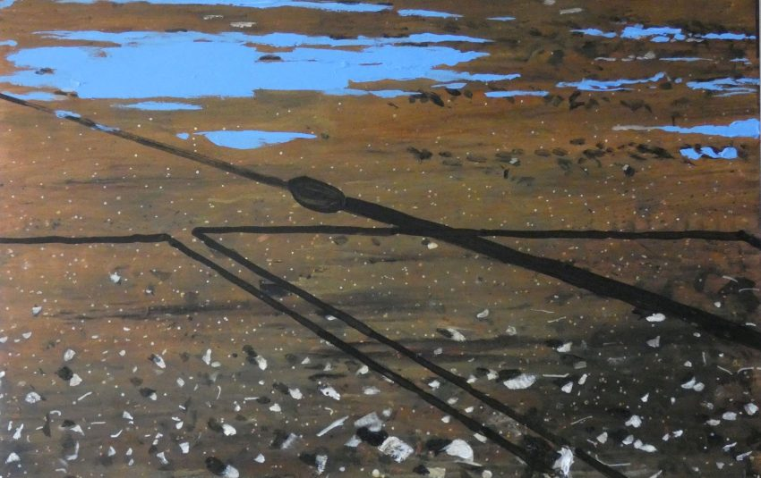 Picture of Untitled Puddle Painting (The Hole) by artist Narbi Price