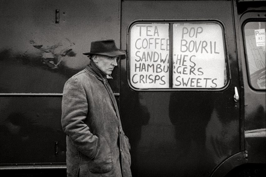 Mik Critchlow- Snack van- Northumberland Miners' Picnic 1982 photograph