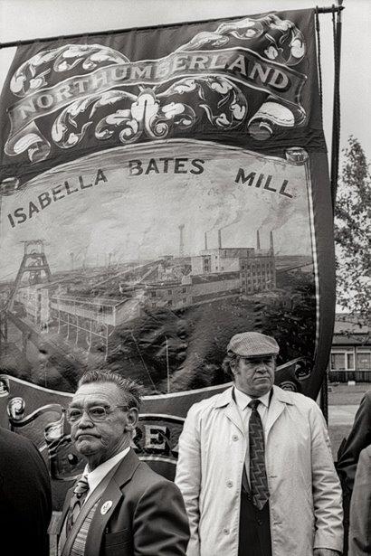 Mik Critchlow- Bates Colliery Banner 1980 photograph