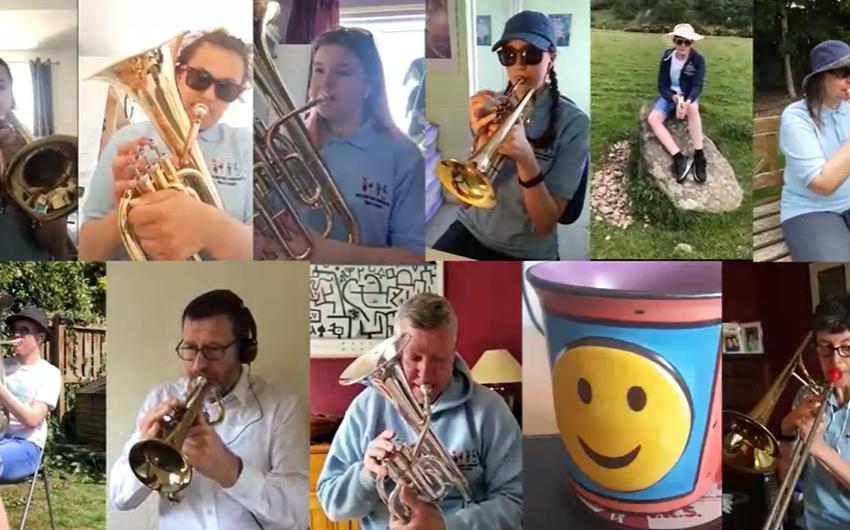Zoom performance by Bedlington Community Brass Band