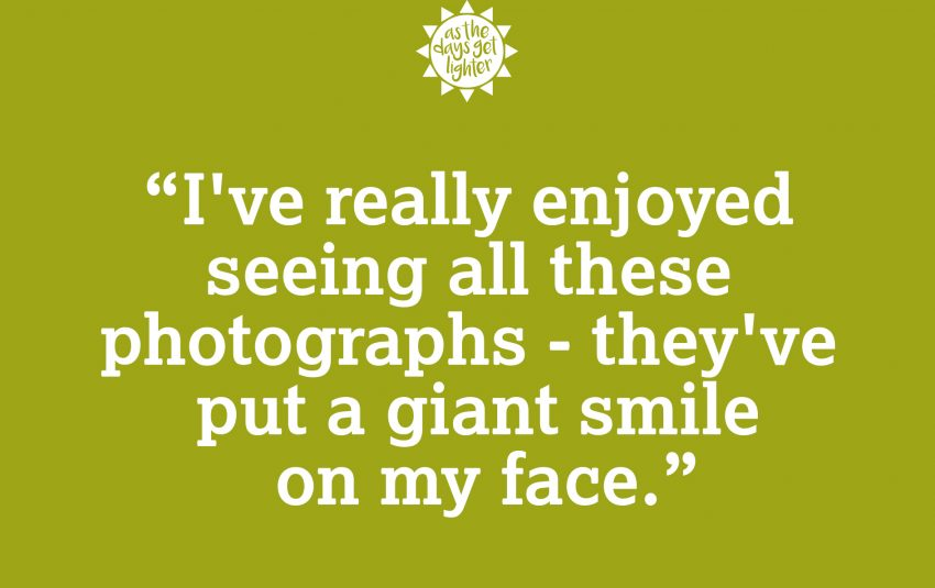 I really enjoyed seeing all these photographs - they've put a giant smile on my face