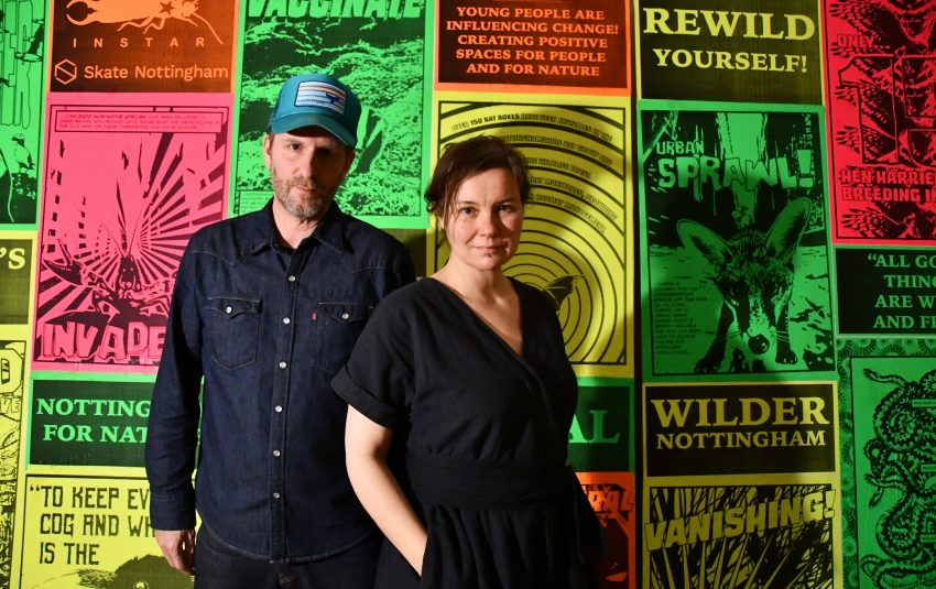 INSTAR artists Nick Humphreys and Trish Evans